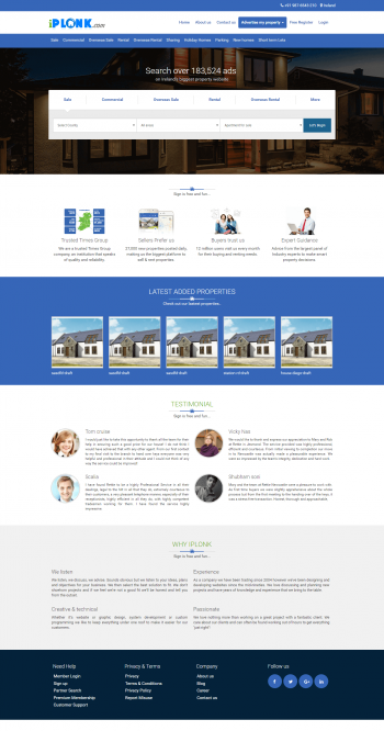 iPlonk-Real Estate website