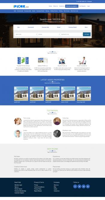 iPlonk-Real Estate website
