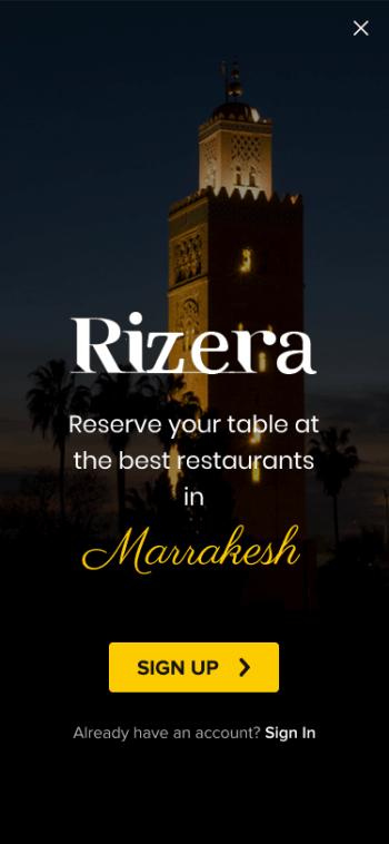 Rizera Restaurant App